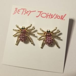 NWT Betsey Johnson Spider Earrings